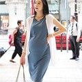 3 unids/lote Freesize 2 unids ropa para mujeres embarazadas vestidos de maternidad de maternidad del verano de maternidad de algodón suave desgaste trajes elegantes