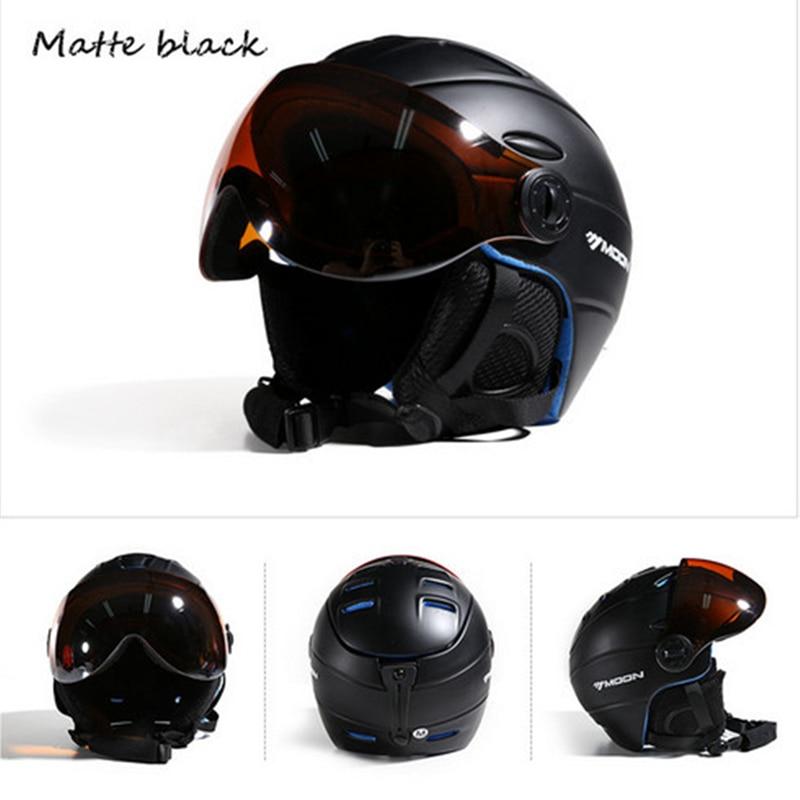 MOON CE сертификат скейтборд шлем интегрально формованные очки лыжный шлем для мужчин и женщин Спорт на открытом воздухе сноуборд шлем M/L/XL - 6