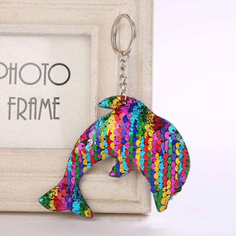 Unicorn Keyring Mermaid Sequins Keychain Handbag Pendant Bag Accessories