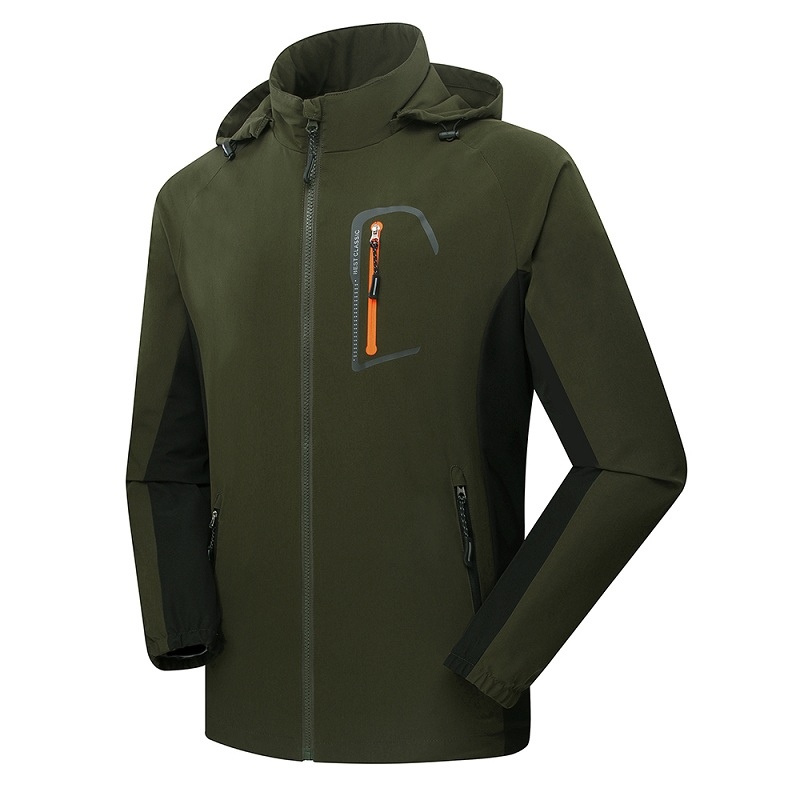 Mens outdoor sports waterproof jacket for Waterproof fishing jacket