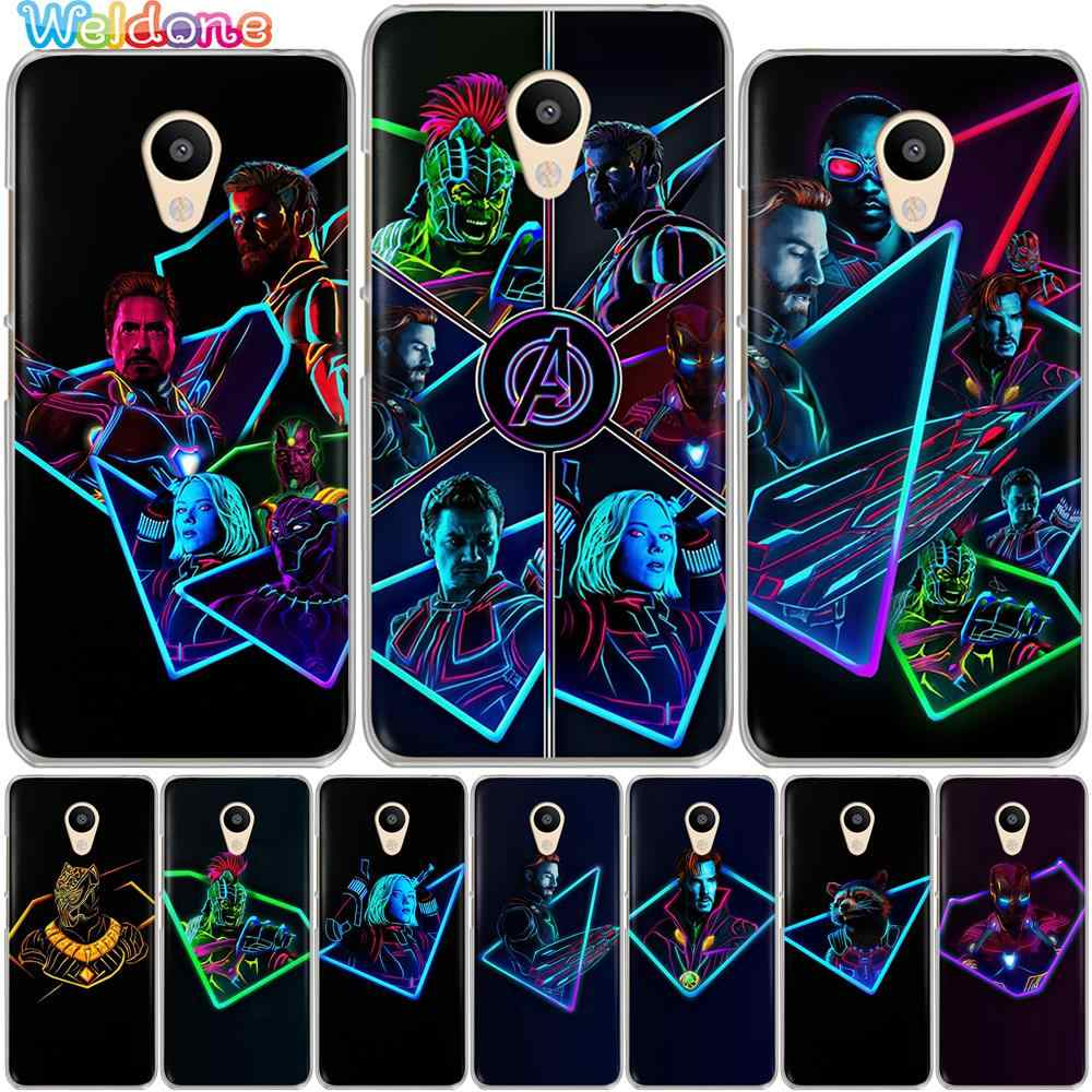 Fashion Marvel Avengers Phone Case untuk Meizu M6S MX6 M6T M5S M3S M5C M3 M5 M6 Note Pro 7 plus U10 U20 Penutup Case Etui