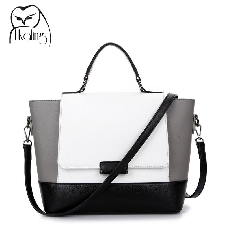 UKQLING Women Bag for Women Leather Handbags Famous Brands Purse Tote Shoulder Bags Casual Bolsa Designer Handbags High Quality romanson rm 6a31l lw wh