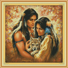 Tender and soft as water Printed Canvas DMC Counted Chinese Cross Stitch Kits printed Cross-stitch set Embroidery Needlework