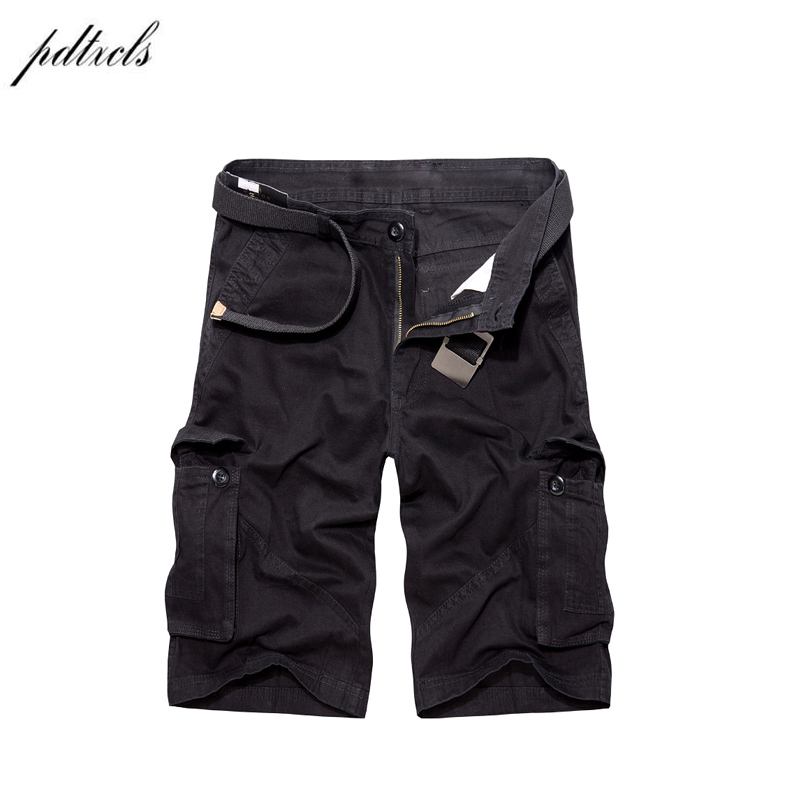 PDTXCLS 2018 Summer Cargo Shorts Men  Casual Cotton Shorts For Man Color