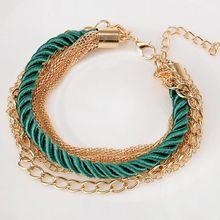 Handmade Chain Link Bracelets For Women Charm Bangle candy color Bracelet Vintage women fashion accessories Jewelry Bracelets