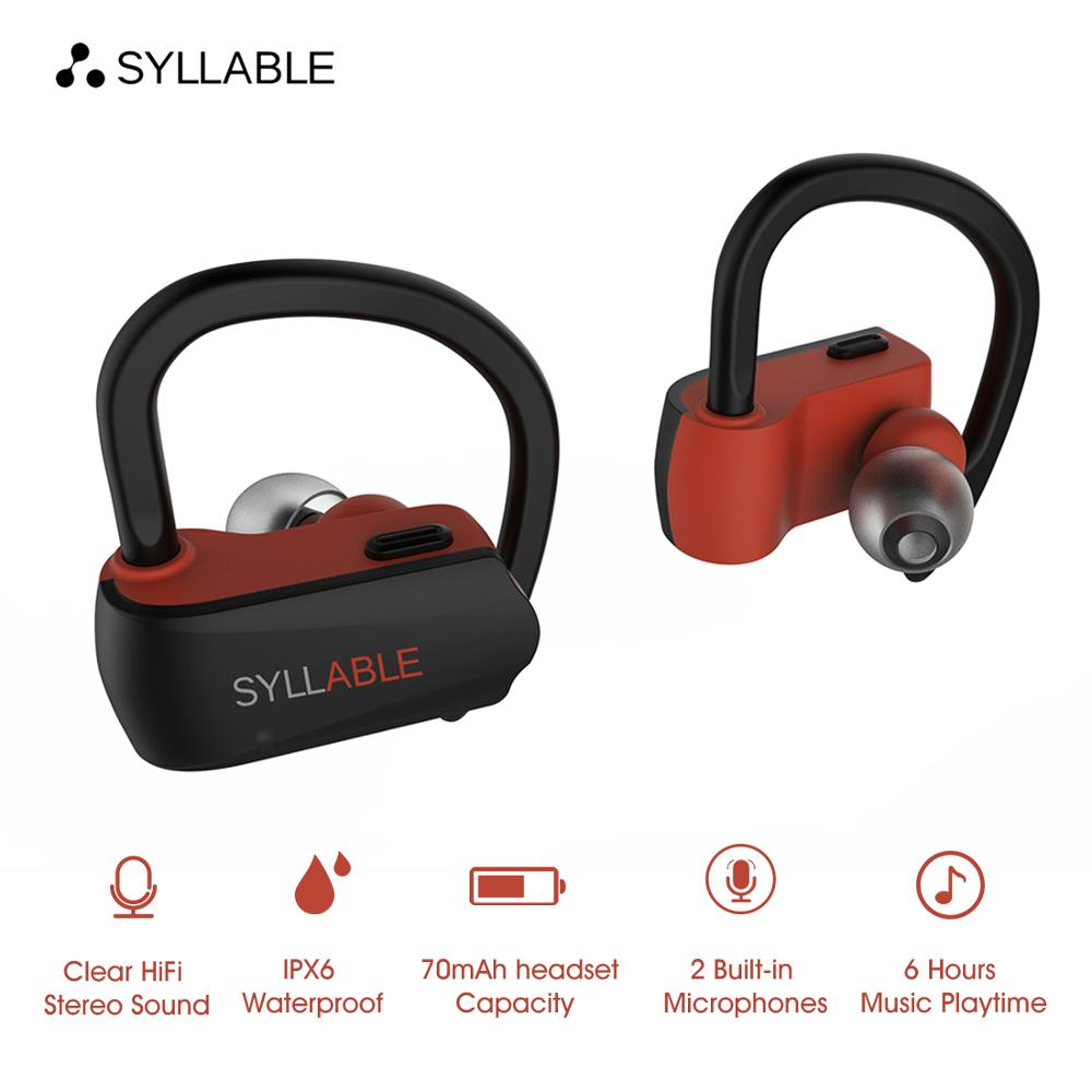 Original SYLLABLE D15 TWS True Wireless Stereo Earbuds Sports Bass Bluetooth Earphone With Mic Headset For Android IOS
