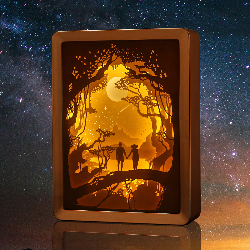 Neue Produkt Papier Geschnitten Führte Nacht Licht Malerei 3D ...
