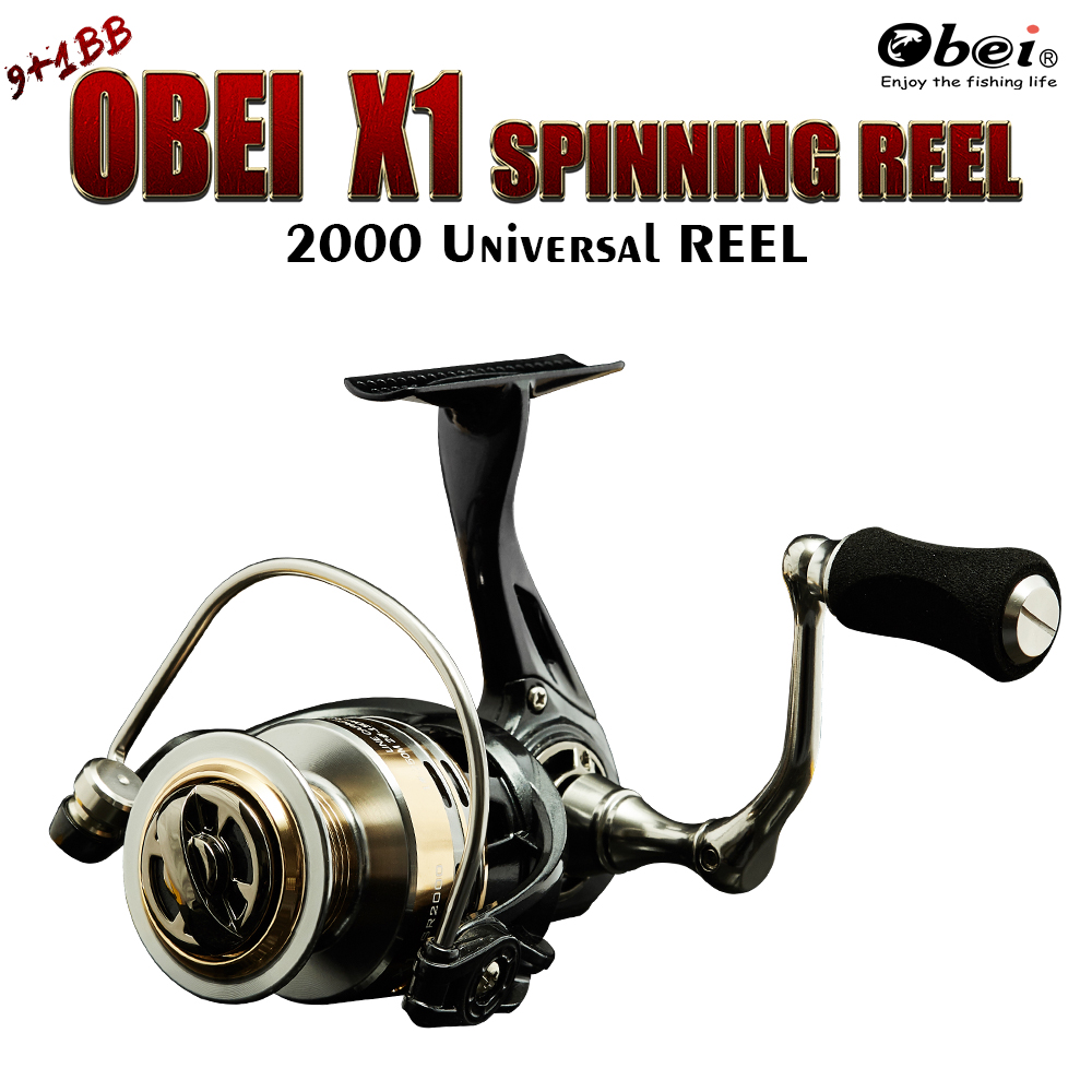 spinning lure fishing reel 8kg max drag fresh water 2000 10 ball bearing 205g super light obei fishing tackle