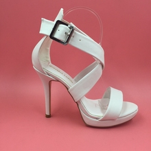 2016 White Bridal Wedding Shoes Custom Made Plus Size Shoes Buckle Strap Sandals For Women New