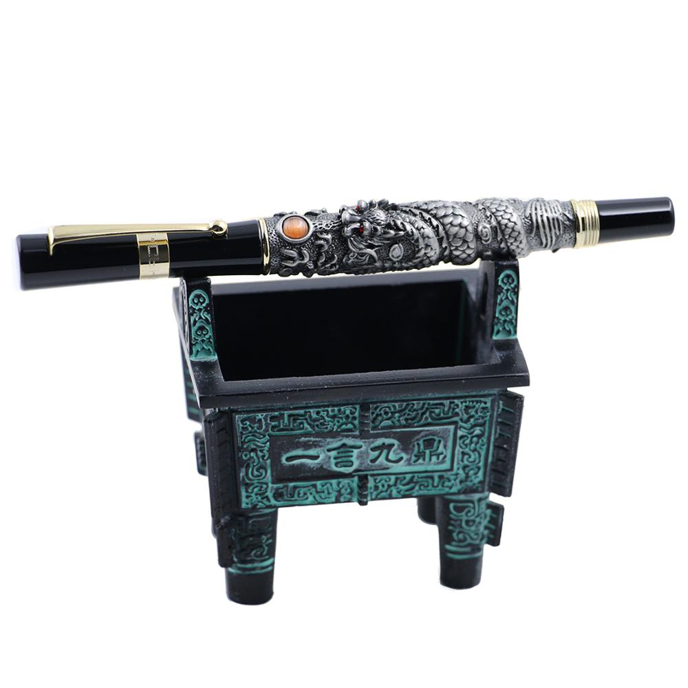 Jinhao Metal Bronze Vintage Fountain Pen Holder Collection Desktop Decoration Decoration Accessories