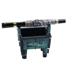 Jinhao pluma estilográfica de Metal y bronce, colección de soporte Vintage, accesorios de decoración de escritorio