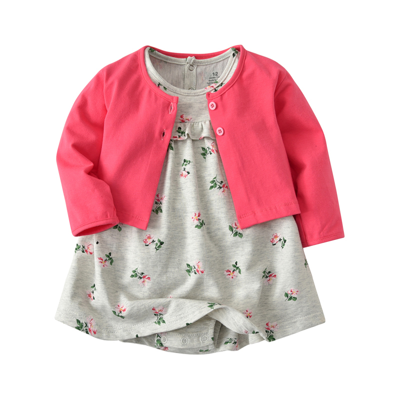 2018 spring autumn baby girl clothes newborn baby long sleeve dress set toddler romper floral