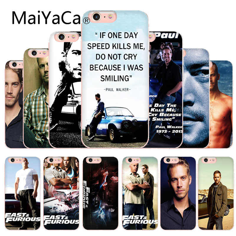 MaiYaCa Paul Walker Fast Furious Telefoon Case Cover Voor Apple iphone X En 8 8plus 7 7plus 6s 6s Plus XS XR 5c Mobiele telefoon cover