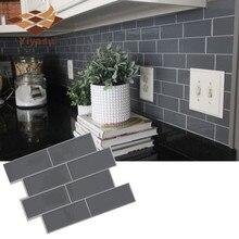 Пилинг и палка щитка съемный самоклеющиеся мозаичный арт стикер для настенной плитки винил ванная комната кухня домашний Декор DIY