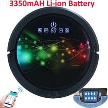 Smartphone WIFI APP de Control de Robot Aspirador Mojado Y Seco Fregona, Robot Aspirador Con Tanque de Agua de 150 ml, 3350 MAH Batería de litio