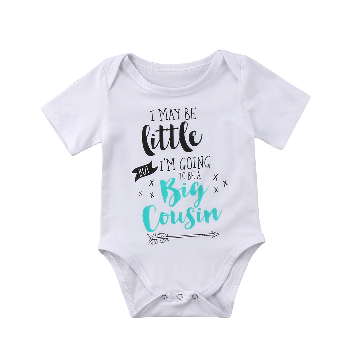 I/'m the Little Brother Boys Baby Sleepsuit Romper