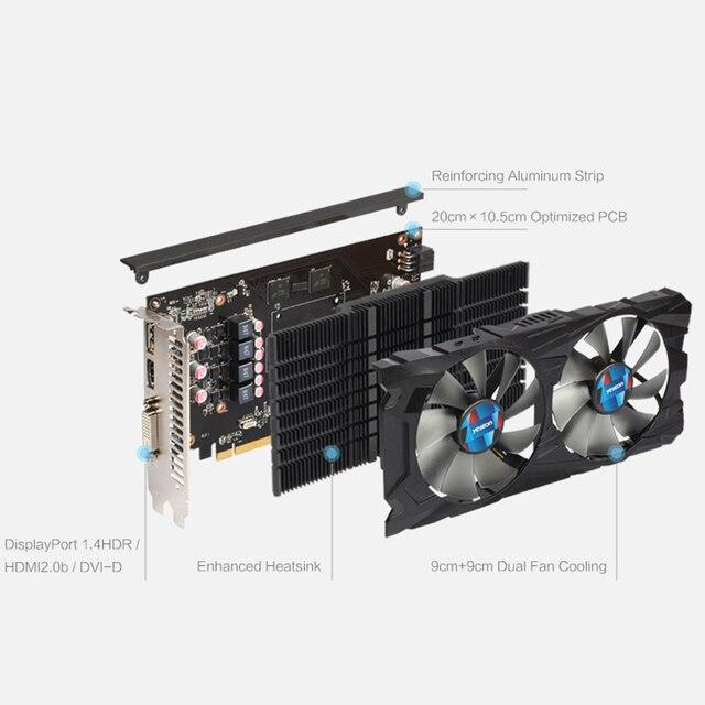 Yeston Radeon RX 550 GPU 4GB GDDR5 128bit Gaming Desktop computer PC Video Graphics Cards support PCI-E 3.0 3
