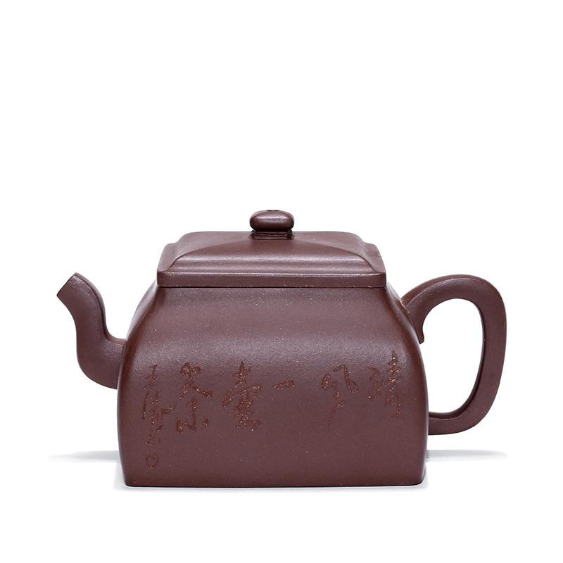 Enameled Pottery Teapot Raw Ore Purple Mud Wang Tao Manual Famous Teapot Wholesale Travel Tea Set Customized Generation Hair