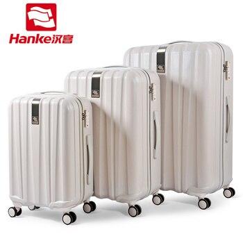2c68b04ad231 лот чемодан набор тележка Чехол для мужчин и женщин путешествия Valise  прокатки Спиннер чемодан 20 24 29 дюймов H80002