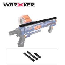 Worker Full-covered Grooved Top Rail Mount Kit for Nerf N-Strike Elite Rampage Blaster - Black