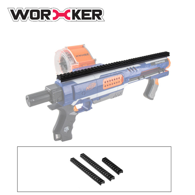 Worker Full-covered Grooved Top Rail Mount Kit for Nerf N-Strike Elite  Rampage