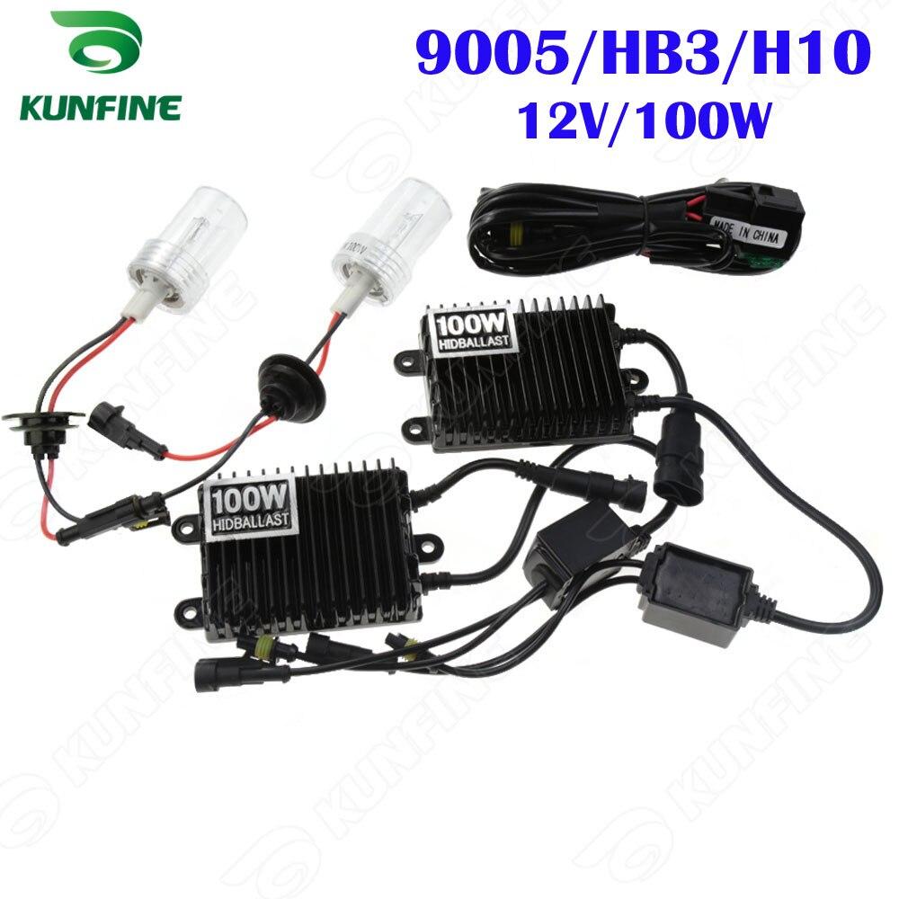 12 V/100 W 4300 K 6000 K 8000 K xénon phare 9005/HB3/H10 HID Conversion xénon Kit pour véhicule phare voiture HID lumière AC Ballast