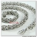 7mm 316L Stainless Steel Necklaces Byzantine Chain New Mens Jewelry 2015 Fashion Cool Gift, Wholesale WN021