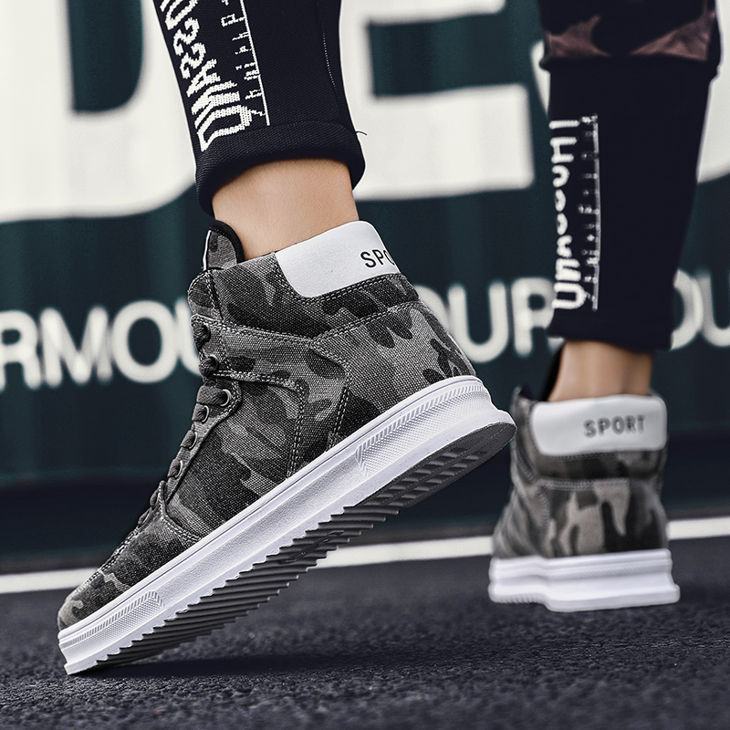 Hombre Mens Krasovki Sneakers Respirant Northmarch De Zapatos Hommes Toile Gris Mode Casual Chaussures Camouflage vert Plates fwqUd7w