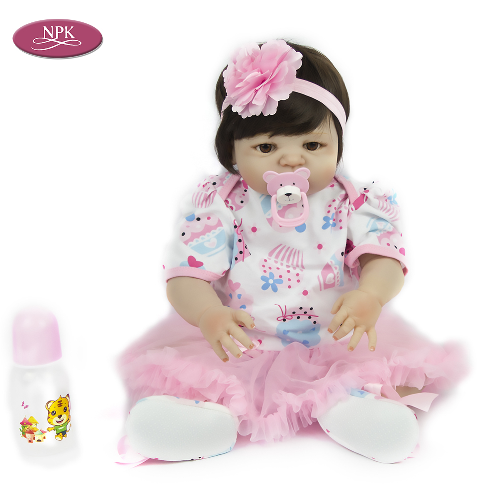 Toys For Baby Dolls : Npk cm soft silicone reborn baby doll girl toys inch