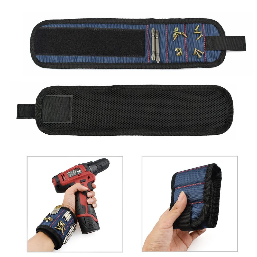 Energisch Armband Tragbare Werkzeug Tasche Polyester Magnetische Elektriker Handgelenk Werkzeug Gürtel Schrauben Nägel Bohren Bits Halter Reparatur Werkzeuge GüNstige VerkäUfe Werkzeugtaschen