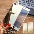 Nueva llegada frontal + volver 2.5d color plating electrochapa espejo film protector de pantalla de cristal templado para iphone 7 plus