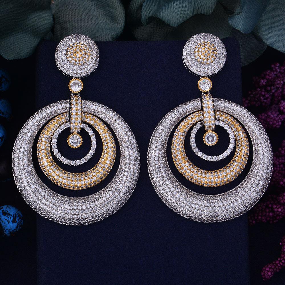 GODKI 65mm Luxury Trendy Round Circle Cubic Zirconia Naija Wedding Party Earring Fashion Jewelry for WomenGODKI 65mm Luxury Trendy Round Circle Cubic Zirconia Naija Wedding Party Earring Fashion Jewelry for Women