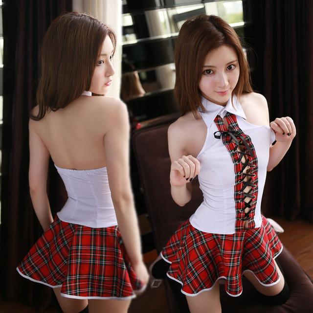 JiaHuiGe Sexy Japanese School Girl Costume Women Schoolgirl Costume Uniform Lingerie Sexy Hot Erotic Fantasia Homme Role-playing