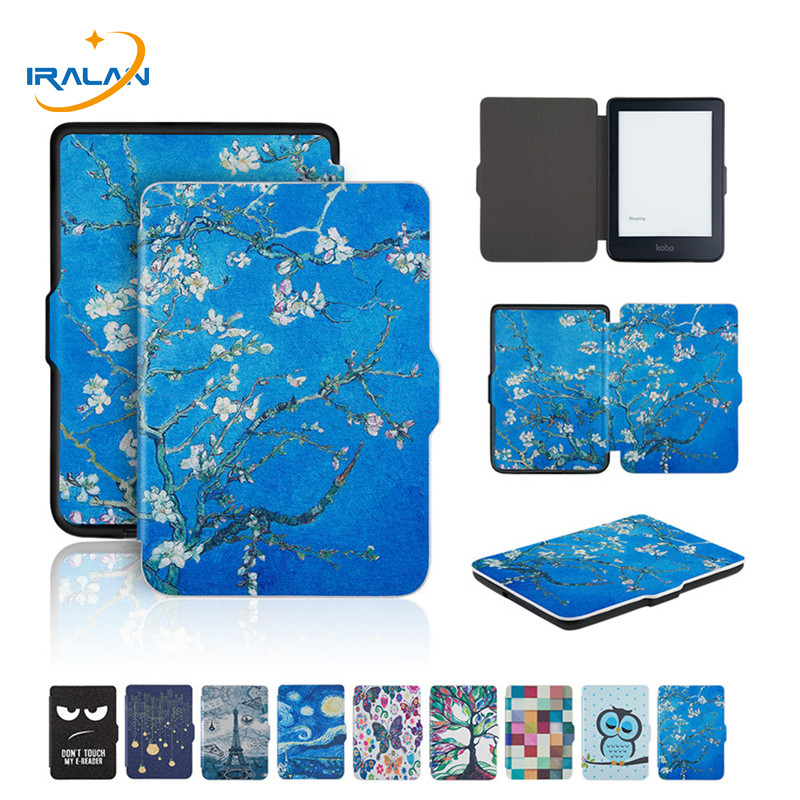 2018 New Printed PU Leather Back Case For kobo Clara N249 Clear HD 6.0 e-Book Silicone Magnetic Protective Cover+Film+Stylus2018 New Printed PU Leather Back Case For kobo Clara N249 Clear HD 6.0 e-Book Silicone Magnetic Protective Cover+Film+Stylus