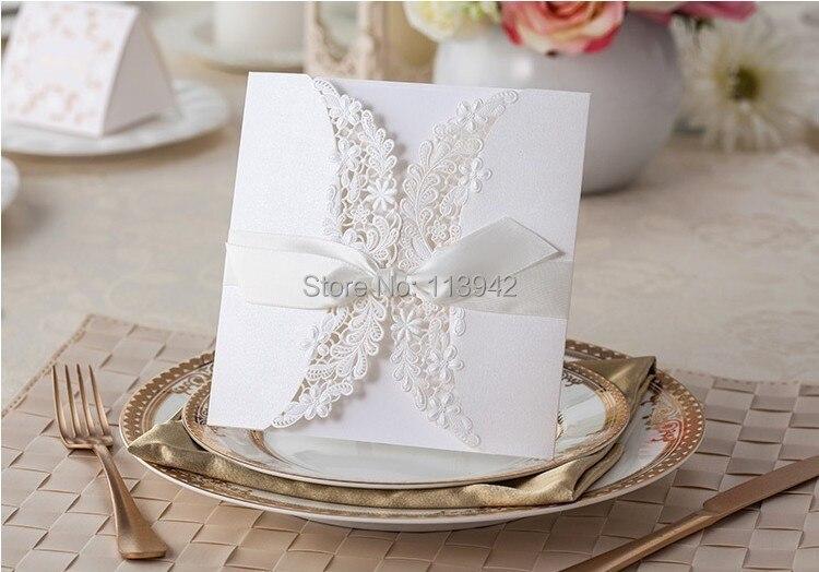 comprar de boda del cordn blanco laser cut tarjeta de invitacin con la cinta sobre convites de casamento como with como hacer tarjetas de invitacion para