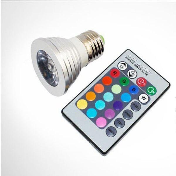 3 Вт E27 GU10 <font><b>RGB</b></font> СВЕТОДИОДНЫЕ Лампочки 16 Цвет гамма изменение лампы прожектор с пульт дистанционного управления для домашней партии