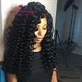 150% densidad brasileño rizado pelucas llenas del cordón sin cola del frente del cordón pelucas de cabello humano profundo rizado natural virgen barato peluca de pelo