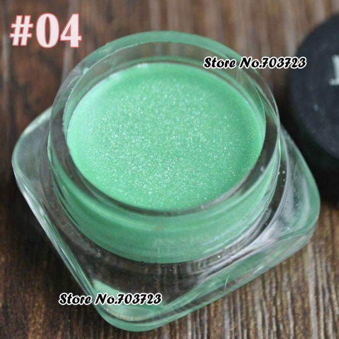 Лидер продаж красивые блестящие мерцающие тени для век подводка для глаз с блестками Крем гель паста пудра светильник зеленый N04 - Цвет: N04  glitter green