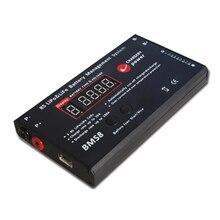 3 S ~ 8 S LiPo LiFePO4 25A 100A BMS Sistema di Gestione della Batteria Al Litio Li Ion UAV Cifre Display del Caricatore Soluzione chargery BMS8