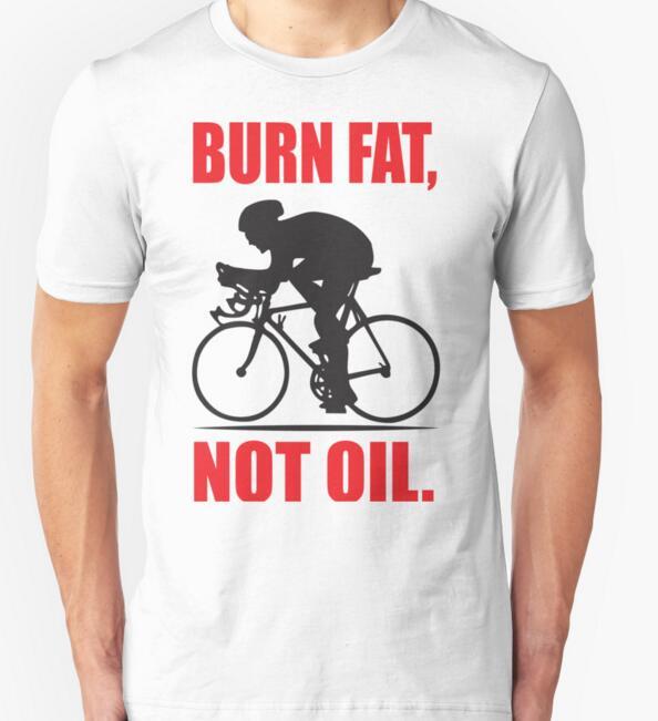2018 Men Summer T-Shirts Plus Size S-XXL T shirt Burn fat not oil Short Sleeve T Shirts Cotton Men Tee Shirts Man Brand Clothes
