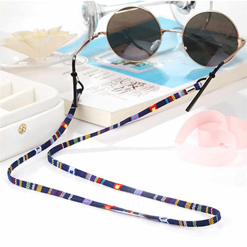 2019 New style wide Retro Eyeglass sunglasses Chain fashion and soft cotton neck string cord retainer eyewear lanyard