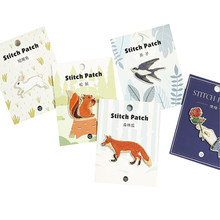 1 Pcs/lot Kawaii Kartun Hewan Menelan Tupai Kelinci Fox Bunga Kain Bordir Patch Stiker Diy Sticker Stationery(China)