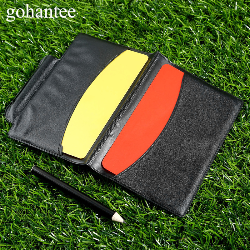 gohantee Soccer Accessories Football Match Referee Notebook with Red Card and Yellow Card and Pencil for Soccer Matches Referees ...