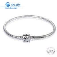 New Pulseras De Plata 925 Women Bracelets 925 Solid Sterling Silver Bangle Bracelets Fine Jewelry Pan