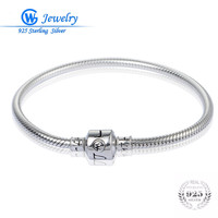 New Pulseras De Plata 925 Women Bracelets 925 Solid Sterling Silver Bangle Bracelets Fine Jewelry Pan