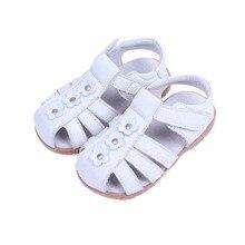 Filles Sandales 2017 Été En Cuir Véritable Enfants Chaussures Filles De Fleur Princesse Chaussures antidérapantes Enfants Sandales