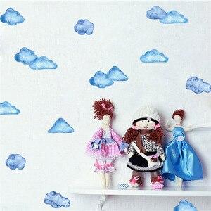 Image 3 - Adhesivos de pared creativos móviles, con decoración de nubes y cielo azul, decoración de ventanas para paredes