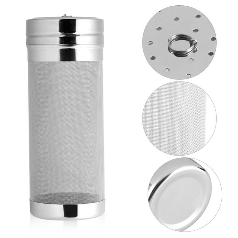 7x18/ 7x29cm Stainless Steel Home Brew 300 Micron Hop Spider Mesh Beer Filter Strainer For Homemade