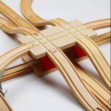 TTC51 H BRIDGE עץ צעצוע סצנת מסלול אביזרי BRIO צעצוע רכב משאית קטר רכבת צעצועים לילדי