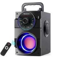 TOPROAD Speaker Portátil Bluetooth Estéreo Sem Fio Grande Poderoso Baixo Subwoofer Alto-falantes do Boombox Suporte FM Radio TF AUX USB